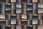 CUBISM RUSTED STEEL fusion wall panel