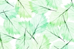 LEAVES MODERN GREEN AQUA fusion wall panel