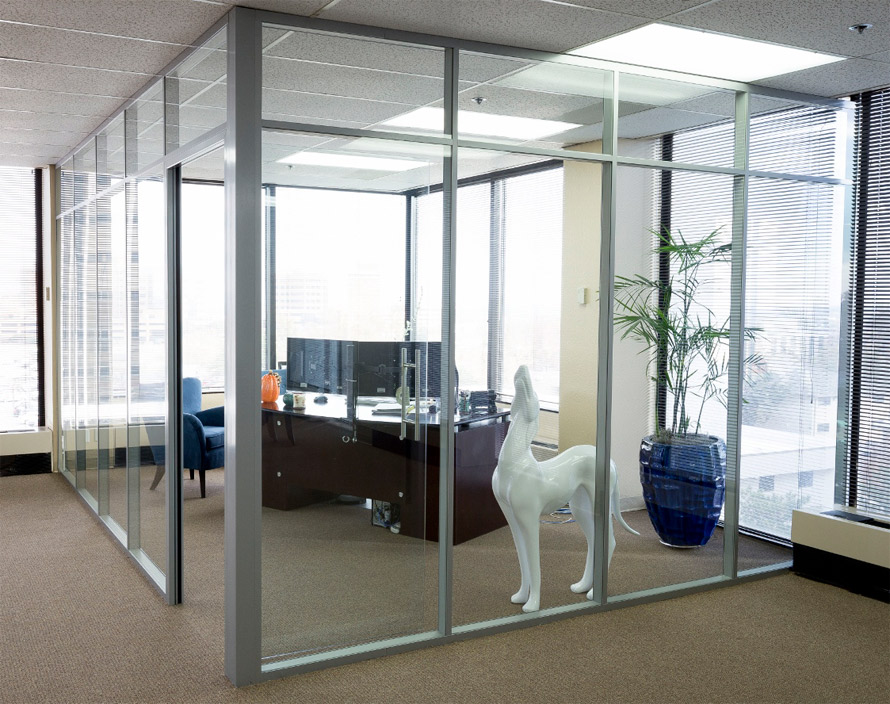 Office Wall Partitions : Flex office wall system demountable movable