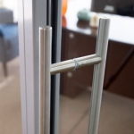Barpull detail for glass doors