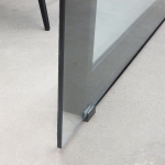 Glass sliding door floor guide