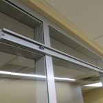 Sliding door rail detail
