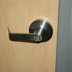 Standard duty steel coated cylindrical door locking leverset