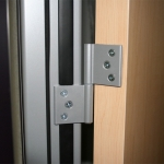 Standard swing door hinges with ms-silver powdercoat finish