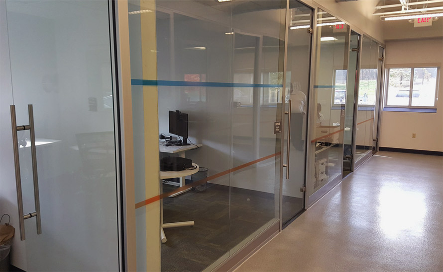Butt-joint Glass Offices with Flex Series Power Channel