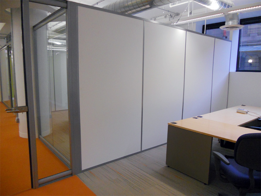 Solid Freestanding side walls CBRE - Chicago, IL
