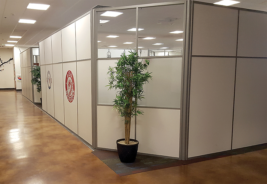 demountable - movable office wall features and options