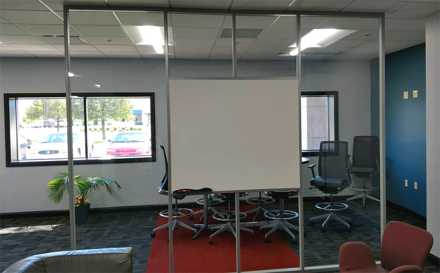 Integrated Whiteboard and Glass Wall - Flex Series