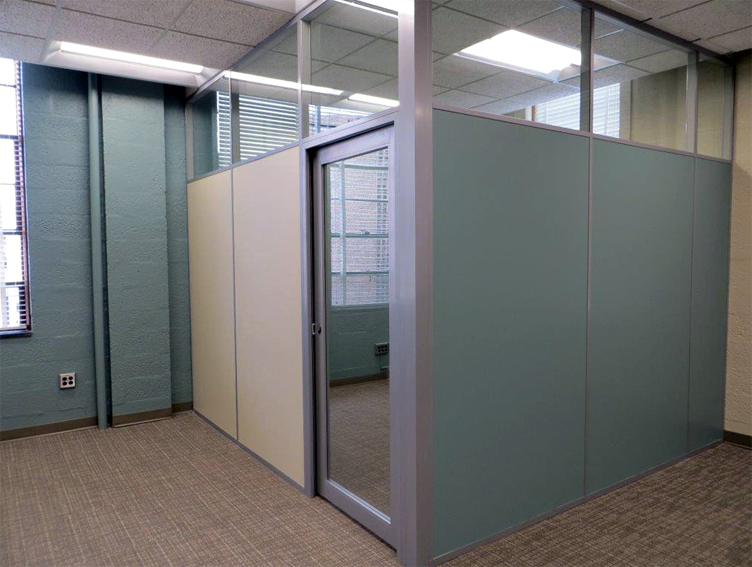 Demising party walls office wall panels solid walls for Glass panel walls