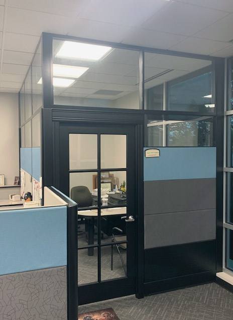 NxtWall Flex Series clerestory integration with existing cubicle system