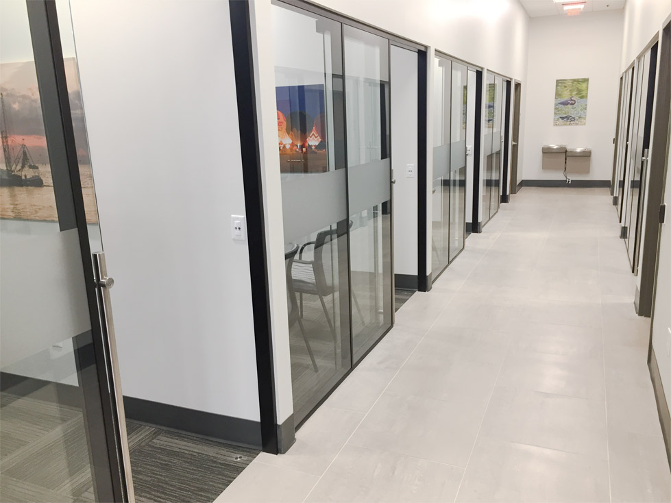 NxtWall Floor to Ceiling Glass Offices Black Wall Frame Finish