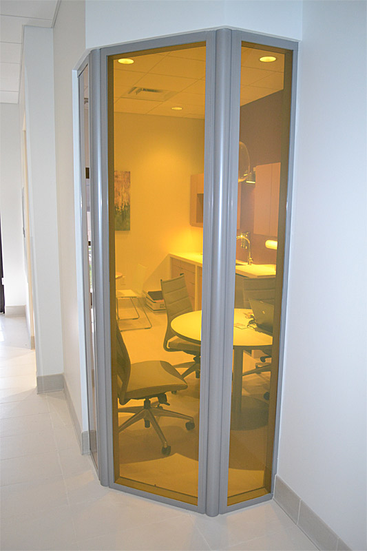 Curved office wall - Flex series movable wall system