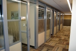 Flex series moveable walls with sliding doors in a University office application