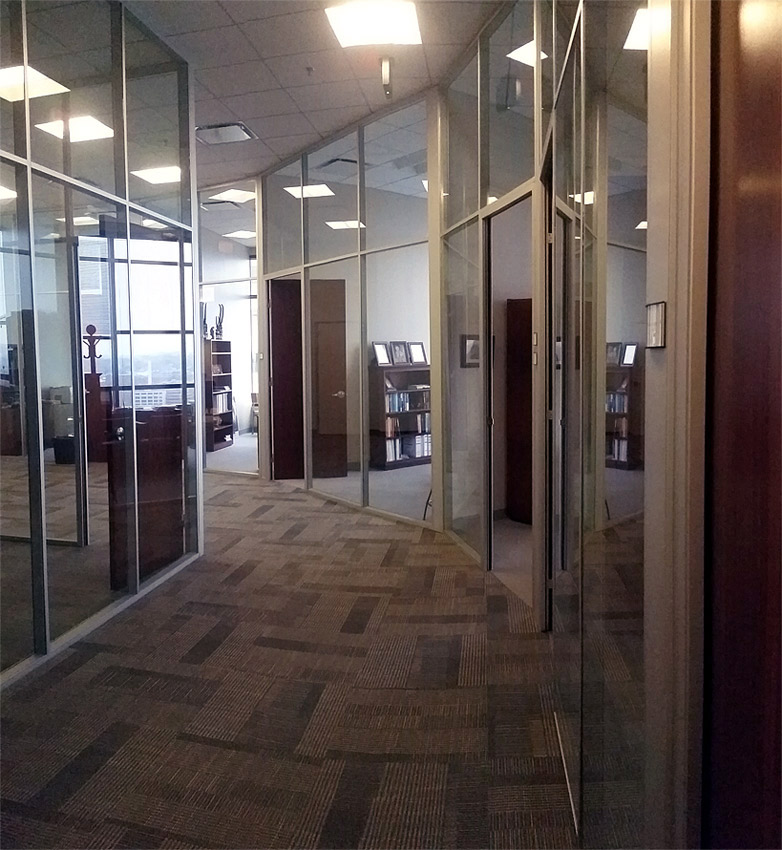 Flex offices - curved angled movable wall system