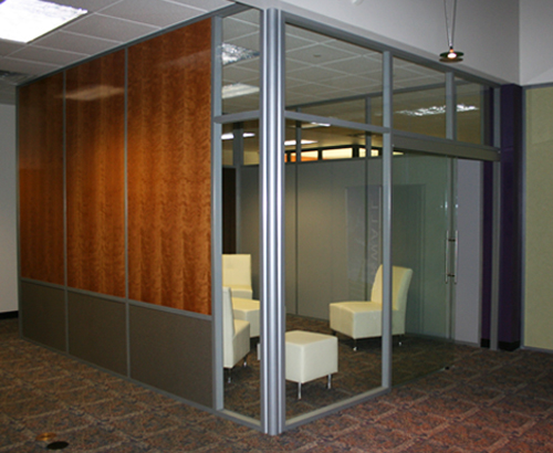 Mixed Solid Panel Glass Front Lounge Room