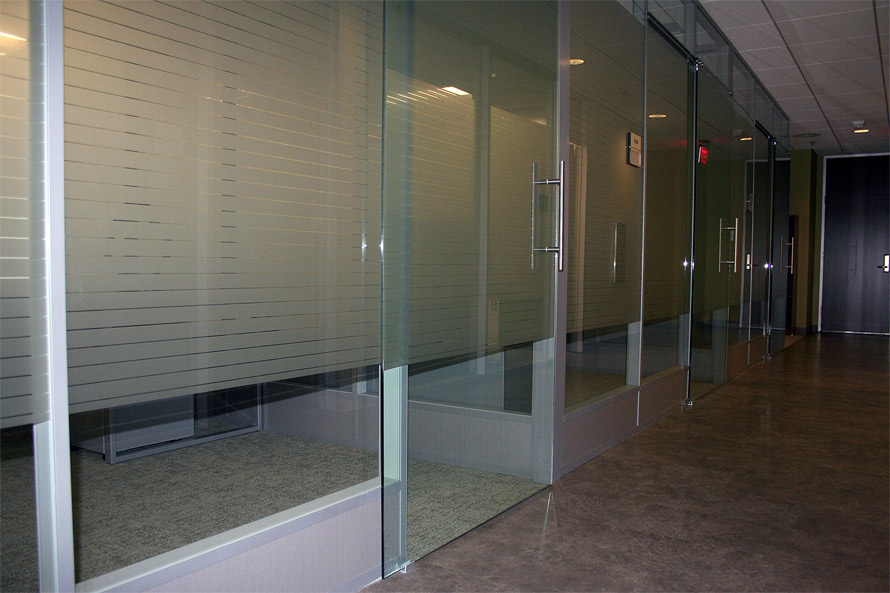 Flex office wall system demountable movable for Glass panel walls