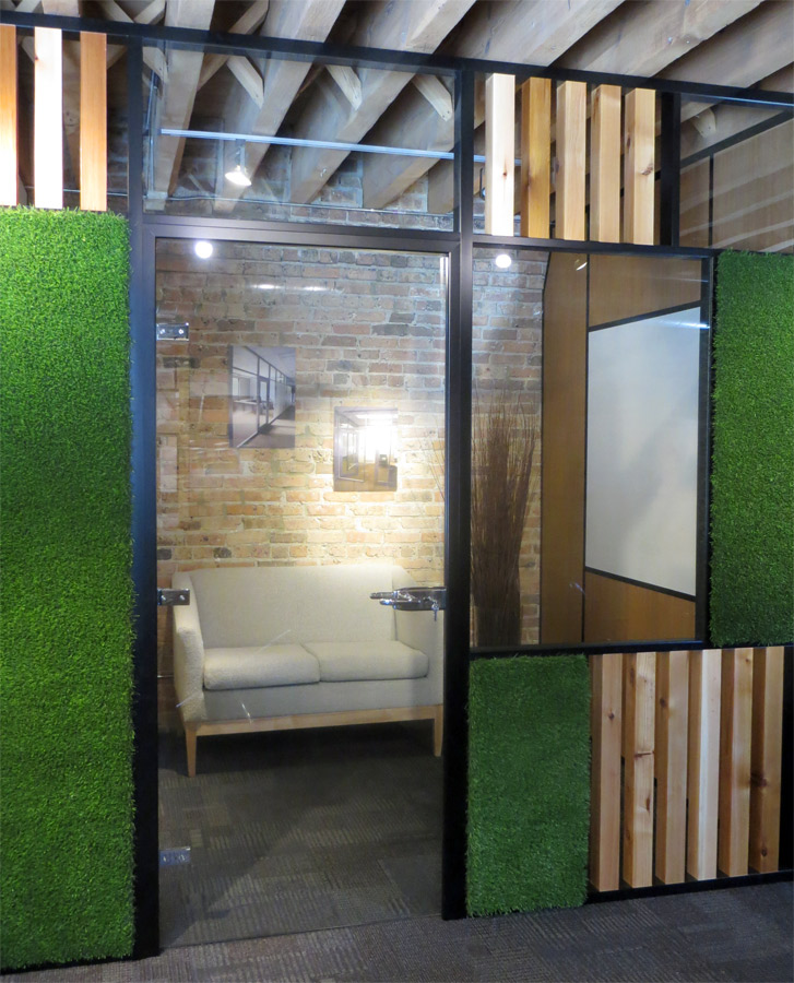 Movable wall swing glass door with green grass panels & NxtWall Architectural Wall Images - NxtWall Pezcame.Com