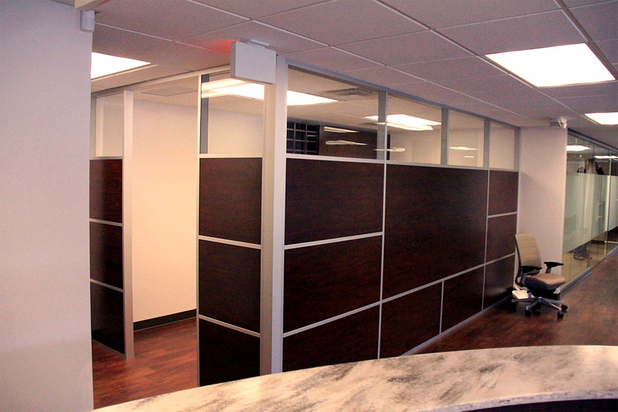 Multi-panel architectural wall system with glass clerestory