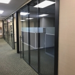 Black Aluminum Glass Offices with Matching Black Glazing Bead - Flex Series