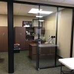Black Color Match Flex Series Aluminum Private Offices