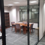 Glass walls with black colored framing - colormatch