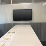 Breakout Room Whiteboard Wall with Wall Mount TV Monitor - Flex Series