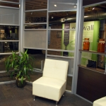 Chicago demountable wall showroom angled wall offices