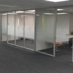 Conference Room Glass Walls w/ Decorative Window Film