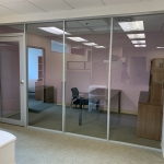 Corporate glass office Flex Series demountable walls