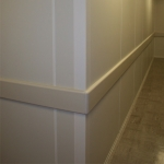 Custom Almond Colored Corner Post and Wall Trim