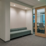 Wood Frame Glass Insert Doors - Flex Series Demountable Walls