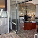 Flex Series Double Frameless Glass Doors (swing type)