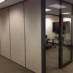 Flex Series Full-Height Glass Fronts with Powdercoat Brownstone Framing Finish