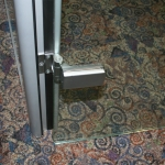 Flex Series Glass Swing Door Hinge Detail Image