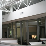 Flex Series MSU Curved Wall Glass Application with Radius Corner Posts