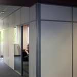 Flex Series Solid Wall Conference Room with Radius Corner Post