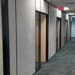 Flex Series floor-to-ceiling walls with solid core laminate doors