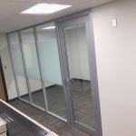 Flex Series glass office with privacy film