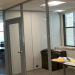 Flex Series solid powered office side wall
