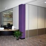 Solid Two Tone Wall with Glass Inserts