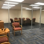 Flex Series glass walls at financial institution