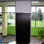 Flex series glass and solid panel office interior