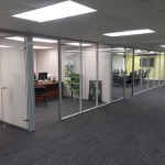 Floor-to-Ceiling Glass Office Walls with Powered Sidewalls - Flex Series