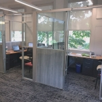 Free Standing Demountable Wall Private Offices - Glass and Solid Panels