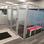 Freestanding Glass Vestible - Flex Series Demountable Walls