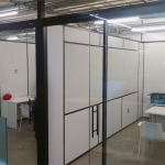 Freestanding Offices with Black Aluminum Framing (View Series Glass Fronts, Flex Series Sidewalls)