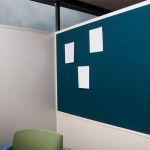 Freestanding tackable fabric-wrapped wall panel display - Flex Series
