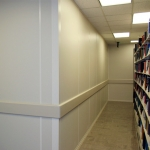Higher Education Library Walls With Wall Bumper Railing