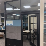 NxtWall Flex Series clerestory only integration - black wall frame color