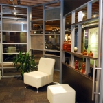 NxtWall Flex series lounge with shelving